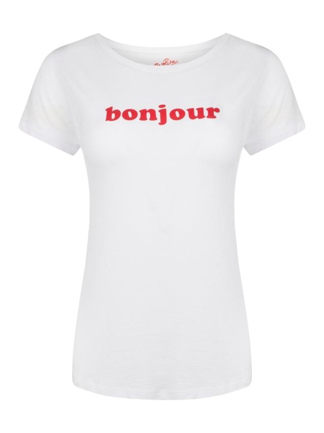 BONJOUR TEE_WHITE_LRG